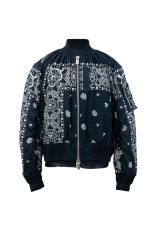 HK$5,900_navy bandana bomber jacket